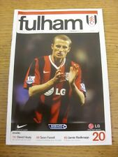 19/04/2008 Fulham v Liverpool  . Item appears to be in good condition unless pre