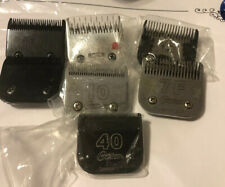 Set Lot Of 7 Oster Andis Wahl Dog Grooming Blades, Cryogen X 40 10 7f  7/4