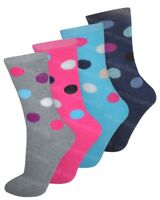 3 Pairs Ladies Spots Design Thermal Socks Warm Winter Extra Thick Hiking Boot