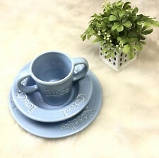 Wordware Americanware Portugal Blue Childrens 3 Piece Feeding Set Plate Bowl Cup