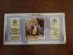 Vintage Yardley English Lavender 3 Perfumed Soap Bars Box Unopened Lavender