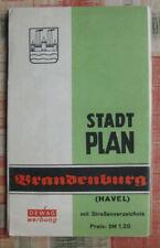 Brandenburg an der Havel 1:25.000 Stadtplan Landkarte ca. Mitte 1950er Dewag