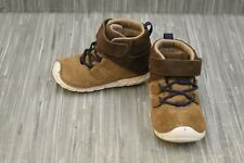 **Stride Rite Oliver Suede Booties, Toddler Boy's Size 4M, Brown NEW