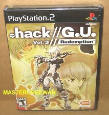 .hack//G.U.: Vol. 3 Redemption New Sealed (Sony PlayStation 2, 2007) PS2