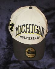 NEW ERA 39 30 Michigan Wolverines men sz  L XL gray blue sewn hat baseball Cap