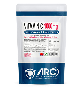Vitamin C with Bioflavanoids & Rosehip 1000mg Tablets VEGETARIAN