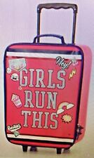 Nwt New Justice Varsity Patches Girls Run This Suitcase Luggage