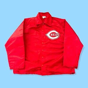 Cincinnati Reds Vintage 1960s Wilson Windbreaker Jacket MLB Red Satin Very Clean
