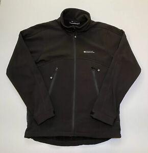 Mountain Warehouse Men's Soft Shell Outdoor Black Zip Up Jacket - Medium