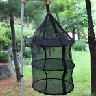 3 Levels Hanging Drying Shelf Rack Curing Dishes Herb Mesh Folding Dryer Net