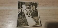 Snapshot PHOTOGRAPH Risque Pin up BLONDE GIRL NUDE IN PLAYGROUND AMATEUR PHOTO