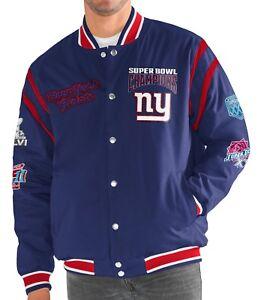 "New York Giants G-III NFL ""All Time"" Men's Commemorative Varsity Jacket"