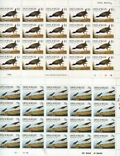 More details for cayes of belize 1985 audubon bird stamps - mnh sheets  mnh  plus john  aububon