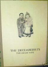 DECEMBERISTS The Crane Wife 2006 U.S. promo POSTER--11 inch x 19 inch