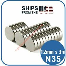 Lot 12mm X 3mm Neodymium Magnet Disc Strong Rare Earth N35 Small Fridge Magnets