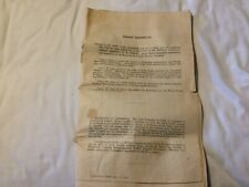 nice old 1927 dated royal navy RN apprentice exam results list of names document