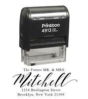 Printtoo Personnalisé noir Auto-encreur adresse Favoriser Tampon-FMM-PHS526A