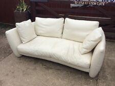 Top Quality Designer Cream Italian Leather Sofa By Natuzzi!!
