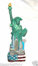 "Statue of Liberty Magnet w.Flag Base Replica Figurine w. Copper Tint  5.5 "" Tall"