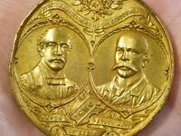 1896 LEEDS CONSERVATIVE MAYOR Gilt Medal 50mm OWEN Leeds Maker #T23011
