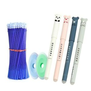 26pcs/set Panda Erasable Gel Pen 0.5mm Erasable Pen Refills Rods Washable Handle