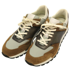 AUTHENTIC BERLUTI Runtrack Turin sneakers Brown gray Leather Nylon 0122