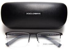 """D&G Dolce & Gabbana DG 1284 1260 Black Rubber Eyeglasses 54-18-140 Italy """"READ"""""""