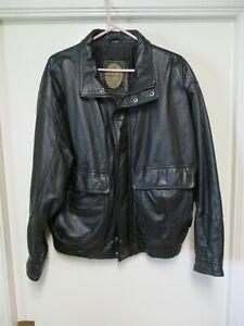Vintage - Members Only - Men's Large - Black - Soft Leather - Jacket