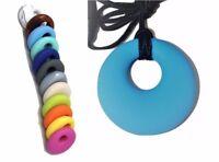 Silicone Necklace (was teething) sensory ring pendant jewellery Australia