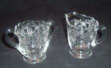 """NEW MARTINSVILLE, PRELUDE PATTERN, ETCHED CREAM & SUGAR LOVELY & """"PERFECT"""""""
