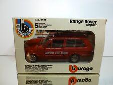 BBURAGO 0125 RANGE ROVER AIRPORT FIRE ENGINE - RED 1:24 - GOOD CONDITION IN BOX