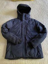 Peak Performance Shiga Jacket Size L Mens Navy Blue Goose Down Parka