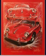 PORSCHE 356 CABRIO 1963 Oldtimer Kunstdruck Original Ferreyra-Basso