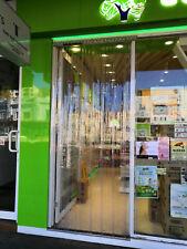 PVC plastic door strips curtain door   2.1m(H) x 1.2m(W) CLEAR/Ribbed 185mm/2mm