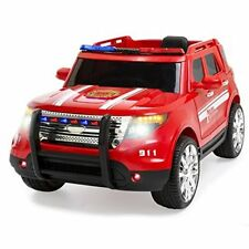 Ride On Electric Firetruck Toy 12 Volt Battery Powered With Remote Control Red