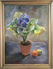 HENRIK NIELSEN (1890-1941) STILLLEBEN MIT TOPFPFALNZE UND FRÜCHTEN - EXPRESSIV