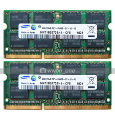 Samsung 8GB KIT 2x4GB PC3-8500 DDR3 1066MHz 204Pin NON-ECC SODIMM Laptop Memory