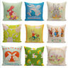 Easter Bunny Throw Pillow Cases  Easter egg Cushion Cover Happy Easter Souvenir