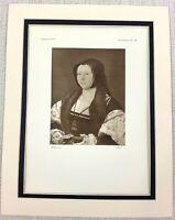 1927 Antik Aufdruck Porträt Von Anne Marquise De Veere Dutch Alt Master Malerei
