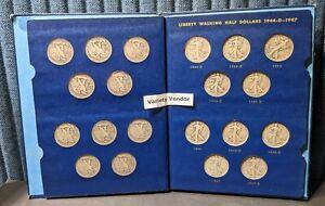 Liberty Walking Halves 1941-1947 Whitman Album No. 9424 Complete Silver Coin Set