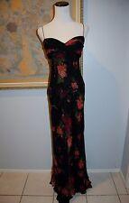 DAVID MEISTER 6 M Gorgeous Floral  silk chiffon lined maxi dress