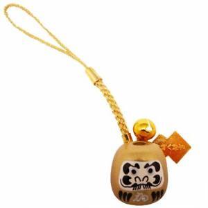 JAPANESE OMAMORI Mini charm Daruma Mascot for Good luck Gold from Japan