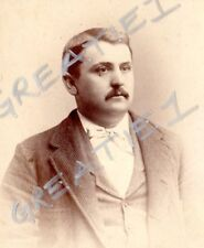 "cabinet card man mustache Louis""Commodre""Kuehnle?Applegate's Atlantic City,N.J.2"