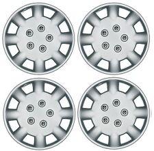 """Set of 4 Wheel Trims / Hub Caps 14"""" Polus Covers fit Renualt Clio Twingo Megane"""