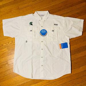 COLUMBIA PFG MSU Fishing Shirt MICHIGAN STATE SPARTANS Men's L, XL, XXL NEW🔥🔥