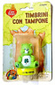 CARE BEARS TIMBRINO CON TAMPONE BLISTERATO BY LITARDI VINTAGE MADE IN HONG KONG