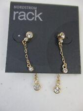 Nordstrom Rack Crystal Chain Two Way Earrings NWT $50