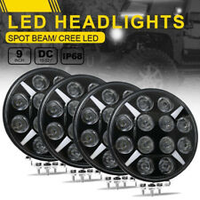 2 Pair 9inch 480W CREE Round Black LED Spot Driving Lights Offroad 4x4 ATV Work
