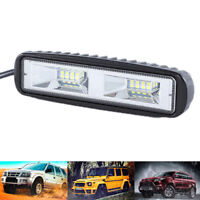 48W 16 LED Work Light Flood Beam Bar Car SUV OffRoad Driving Fog Lamp B md