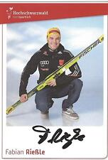 Autogramme Fabian Rießle Riessle Silber +Bronze Olympia Skisprung Schwarzwald *